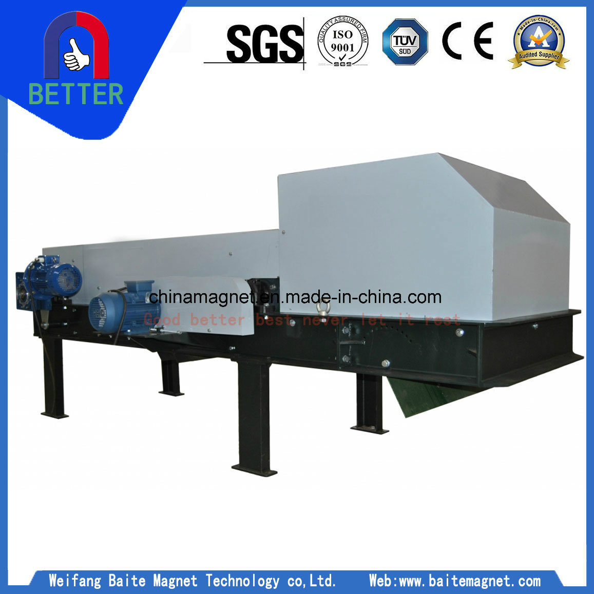 Eddy Current Magnetic Separator for Metal Separation/Tin Ore/Metal Mixed Solid Waste/Aluminum and Copper Separating