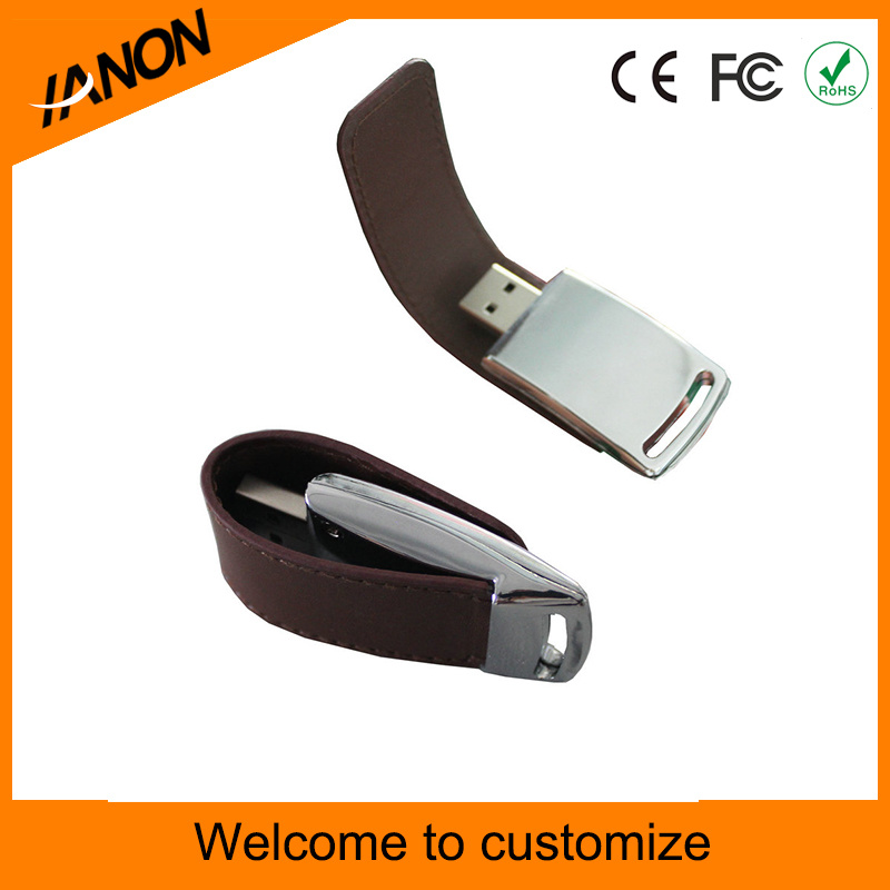 OEM Leather USB Flash Drive with Engrave