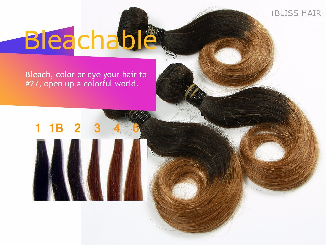 "100% Virgin Hair Indian Straight Two Tone Color 8"" 8PCS One Pack Full Head"
