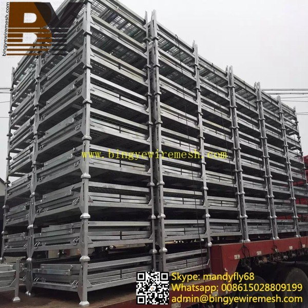 Wire Mesh Cage Folded Storage Container