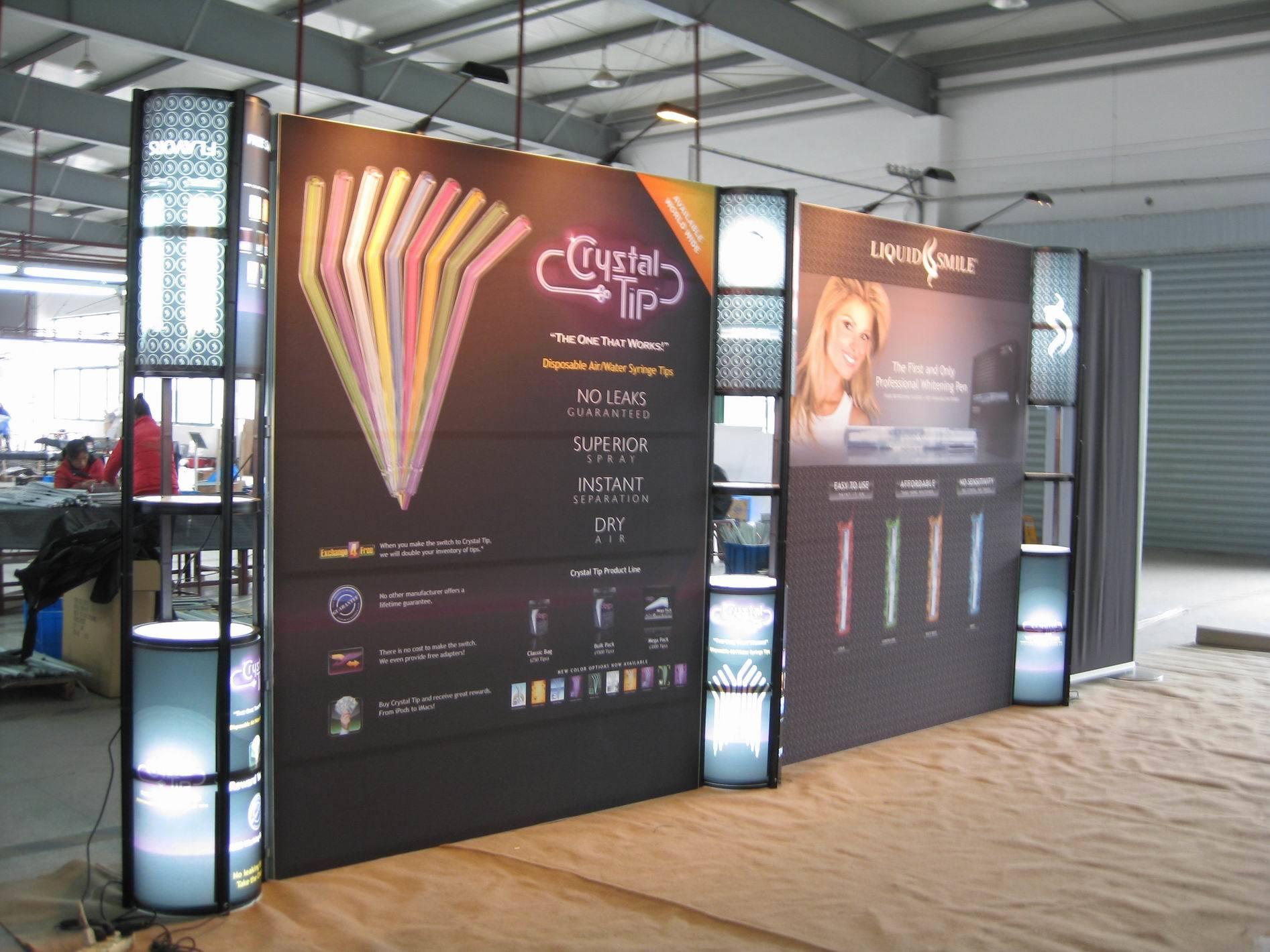 Portable Exhibition Backdrop : China  portable multi functional booth backdrop