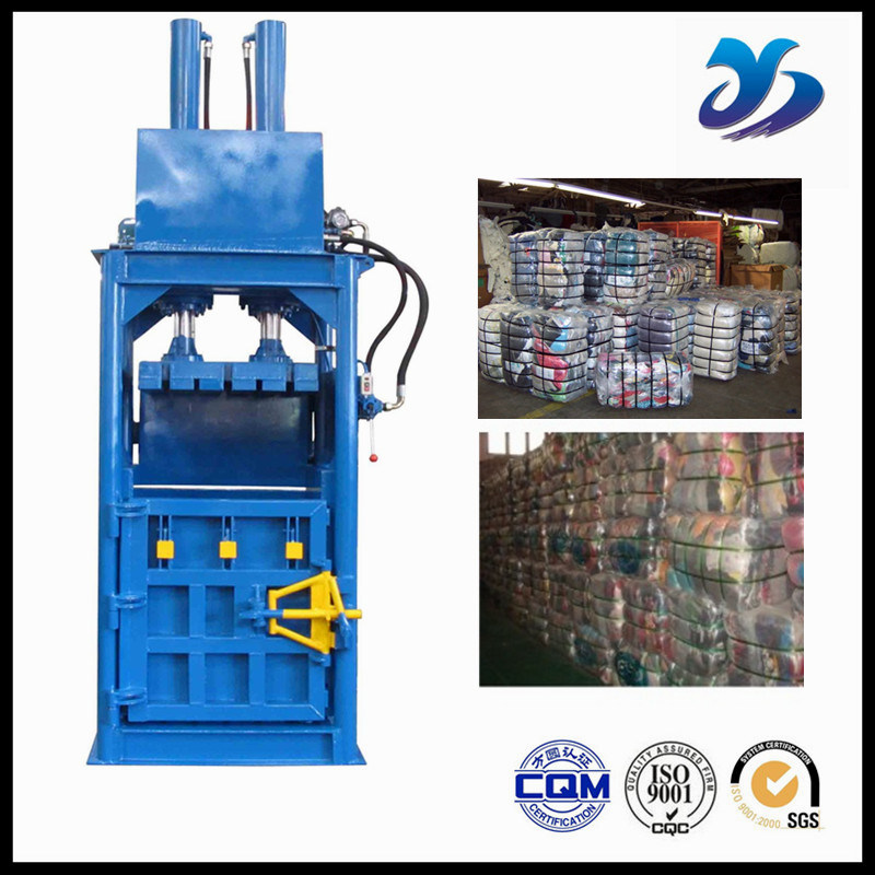Textile Baler Compacts Textiles and Second-Hand Clothes Into Bales Without Any Damage