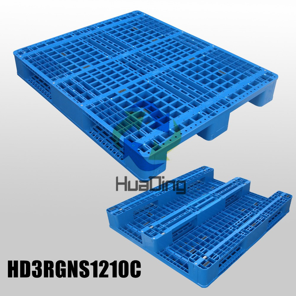 1200*1000*150mm Heavy Duty 3 Runners Closed Deck Hygeian Plastic Pallet