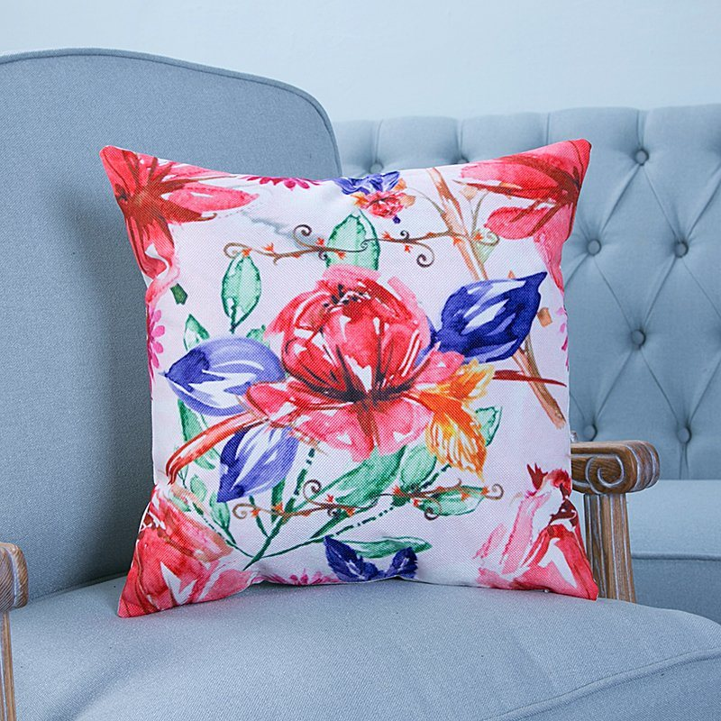 Digital Print Decorative Cushion/Pillow with Botanical&Floral Pattern (MX-19)
