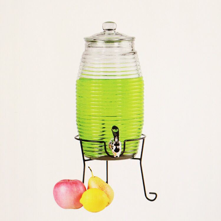 Wholesale Glass Juice Jar with Tap and Stand