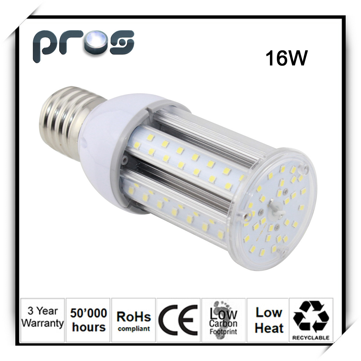 E27 12W 16W 20W 24W LED Corn Street Light 360 Degree Light Degree IP64