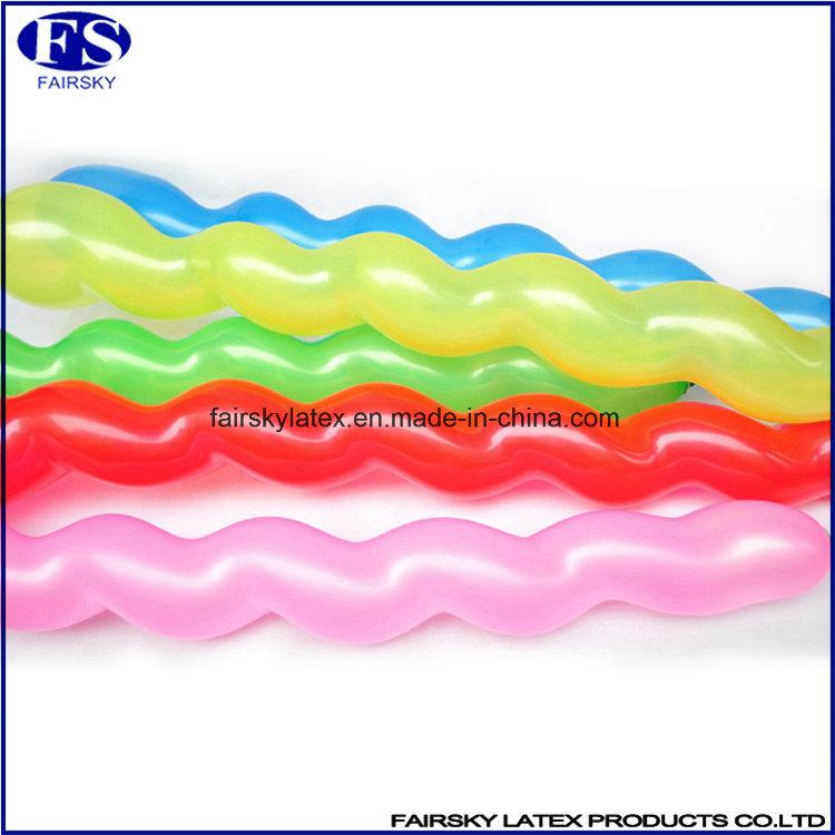 Colorful Cheap China Market Latex Spiral Balloons