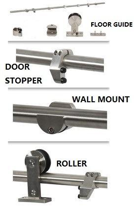 Stainless Steel 304 Sliding Barn Door Hardware
