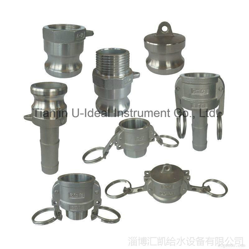 Aluminum-Stainless Steel Fast Connection Cap-Pipe Fitting (DC)