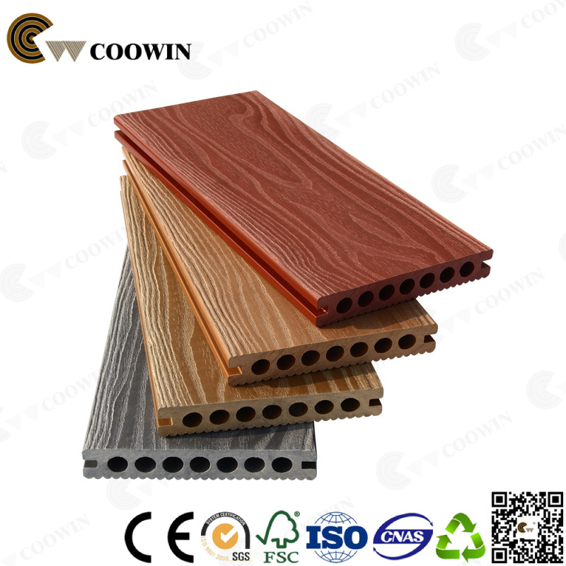 China Supplier Updated 2017 WPC Synthetic Sandal Wood Decking