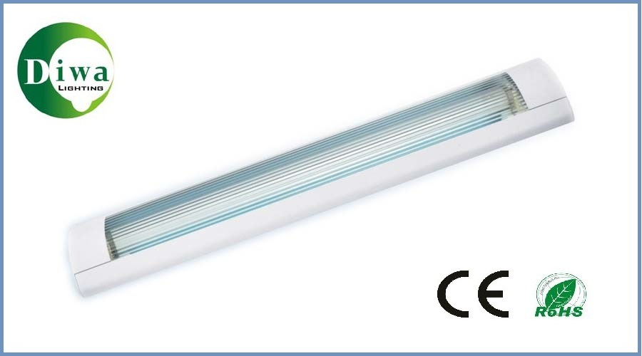 T8 Fluorescent Fitting with Reflector, CE Approved, Dw-T8FF