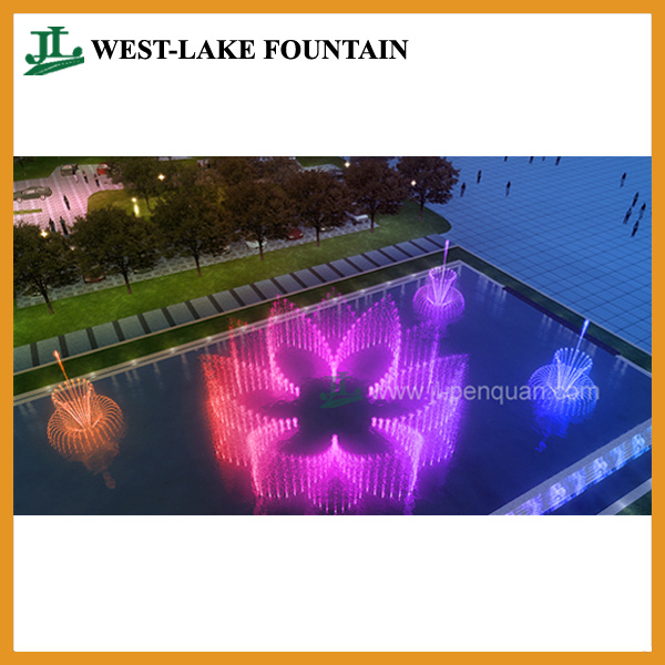 Colorful Music Dancing Outdoor Pool Fountain for Hotel