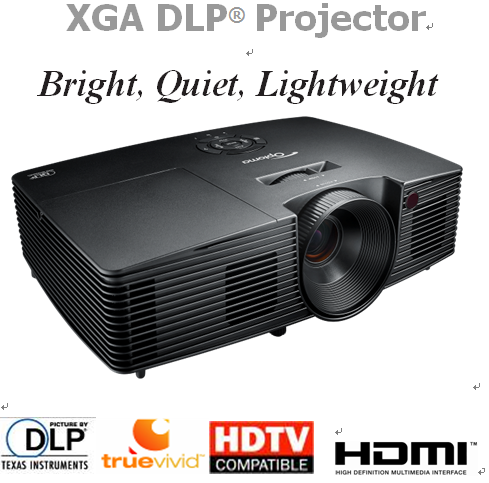 Xga Multimedia Video Projector with Multi-Language Selection