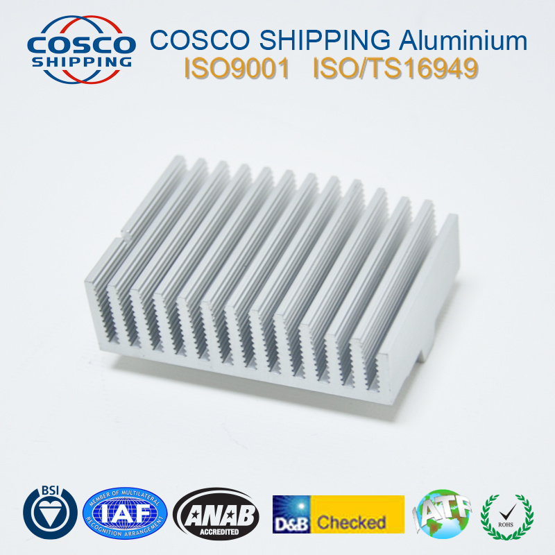 Competitive Aluminum Profile for Heat Sink with Anodizing & CNC Machining