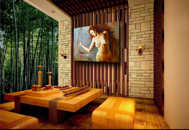 Wholesale Nude Woman on Canva for Handmade Nude Female Body Art Oil Painting