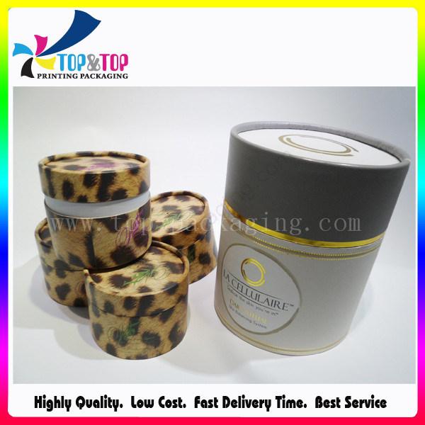 Hot Stamping Big Round Cosmetic Box