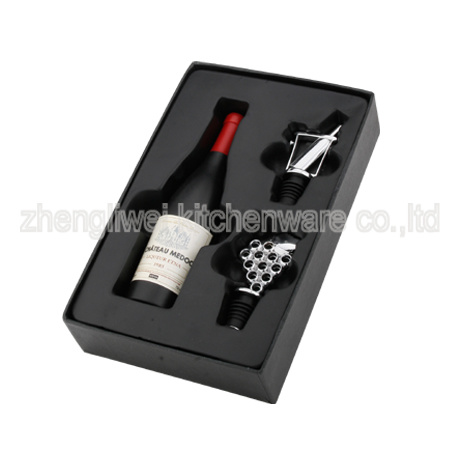 Wine Gift Set in Black Gift Box (608336-A)