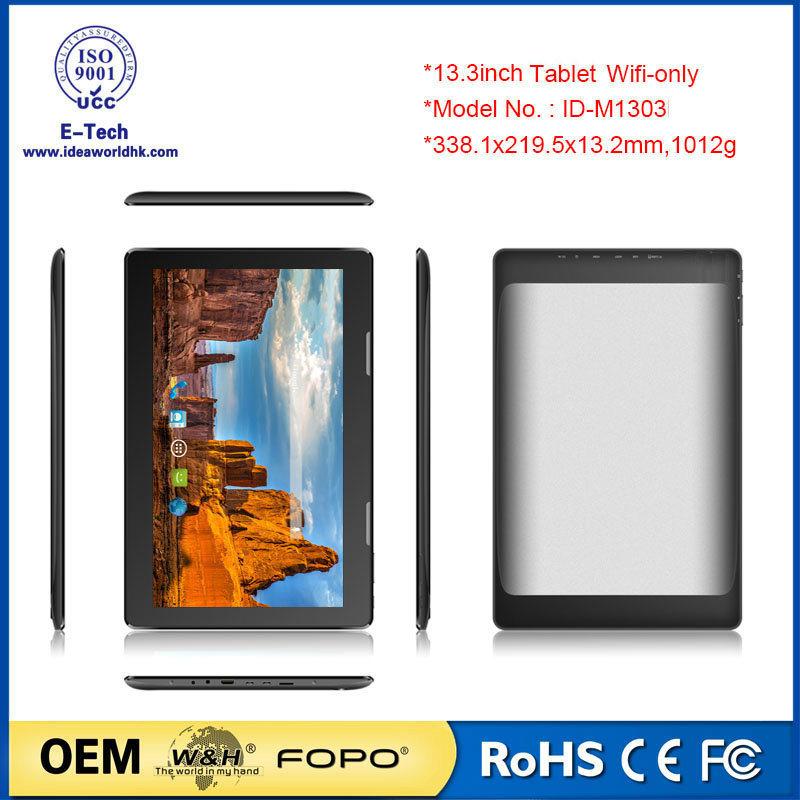 13.3 Inch WiFi HD IPS Screen Tablet PC