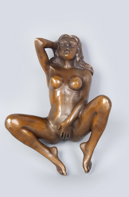 Nude Woman and Naked Lady Bronze Sculpture
