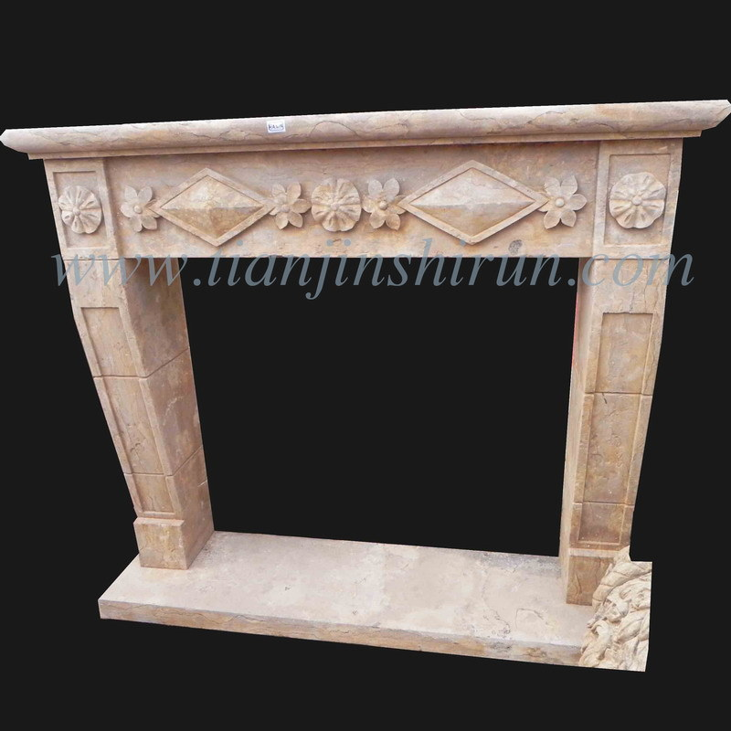 Antique Stone Carving Fireplace