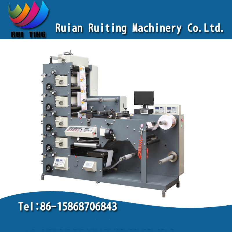 Rtry-420e Label Flexographic Printing Machine with Rotary Die Cut