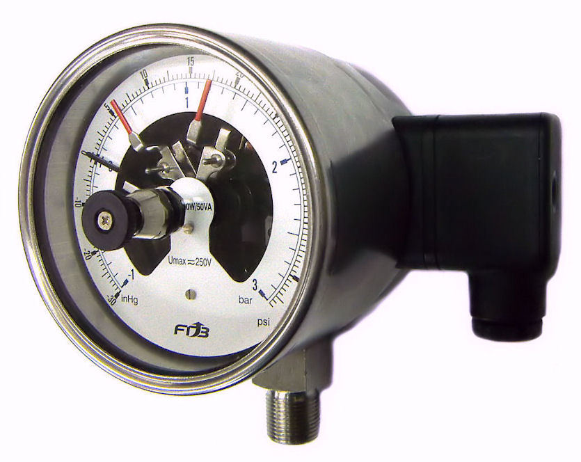 Panel Mount 4 20 Ma Digital Indicator : China ip electrical contact pressure gauge panel mount