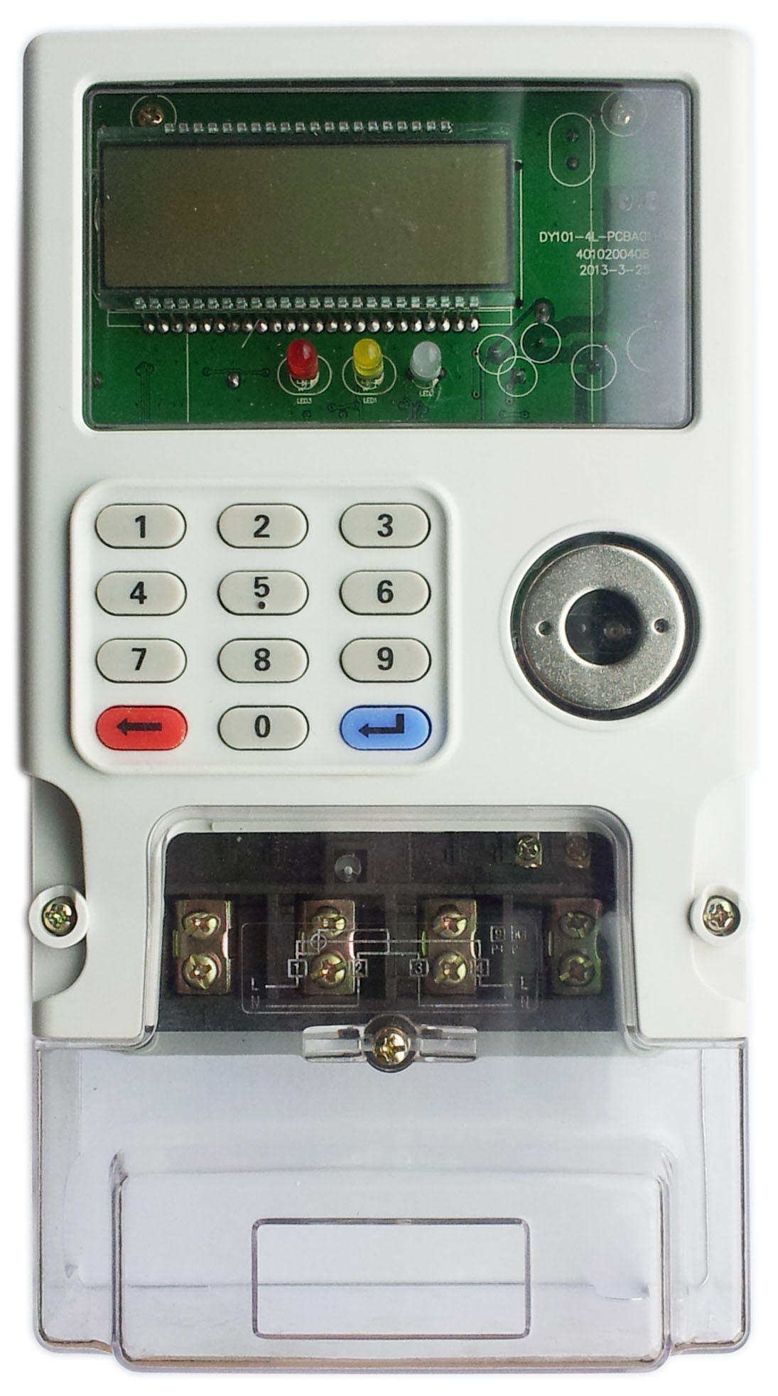 Single Phase Prepaid Energy Meter - with Integrated Keypad, IEC and Sts Compliant, with Certificates of Sts and Cnas