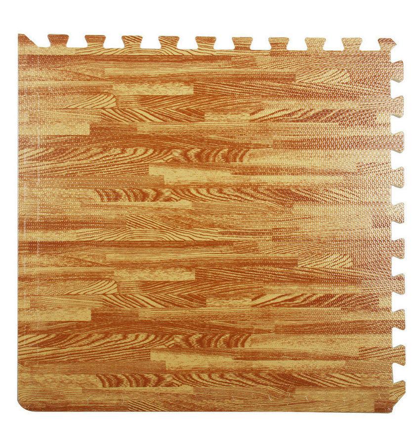 The Wood Grain EVA Puzzle Foam Mat Indoor Living Room Floor