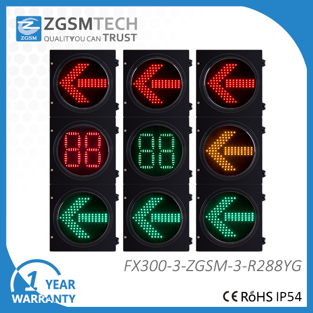 LED Arrow Traffic Light and 2 Digital Countdown Timer