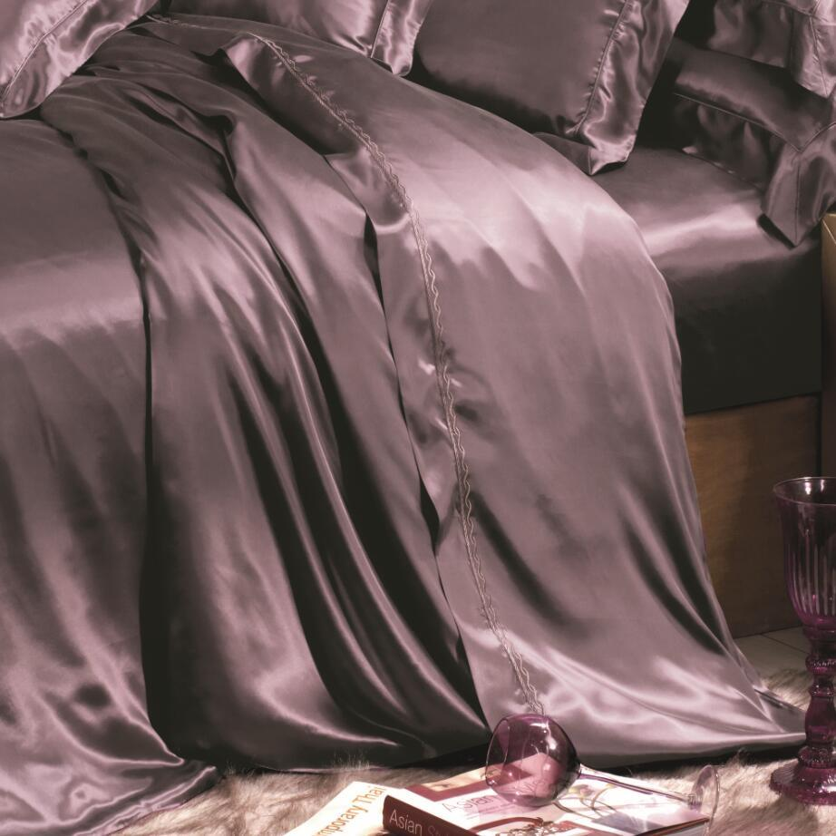 European Style Oeko-Tex Quality Seamless Silk Bedding Set Bed Linen Sheet