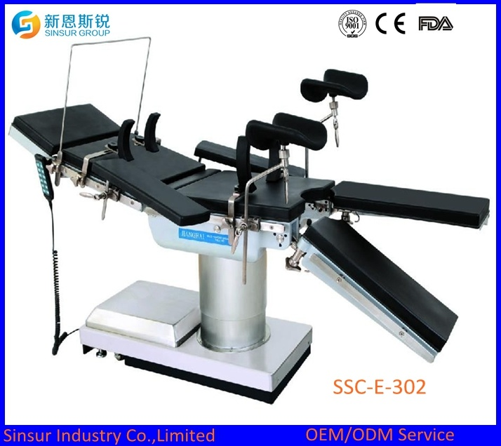 China Supply Hospital Equipment Super Low Electric Hydraulic Operating Table/Bed