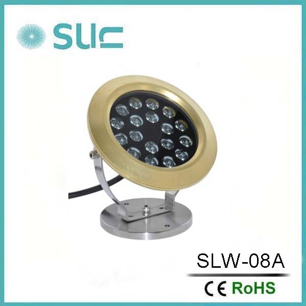 Newest 100% Waterproof Brass 6*3W Multi Color LED Swimming Pool Light, LED Swimming Pool Light for Fountains.