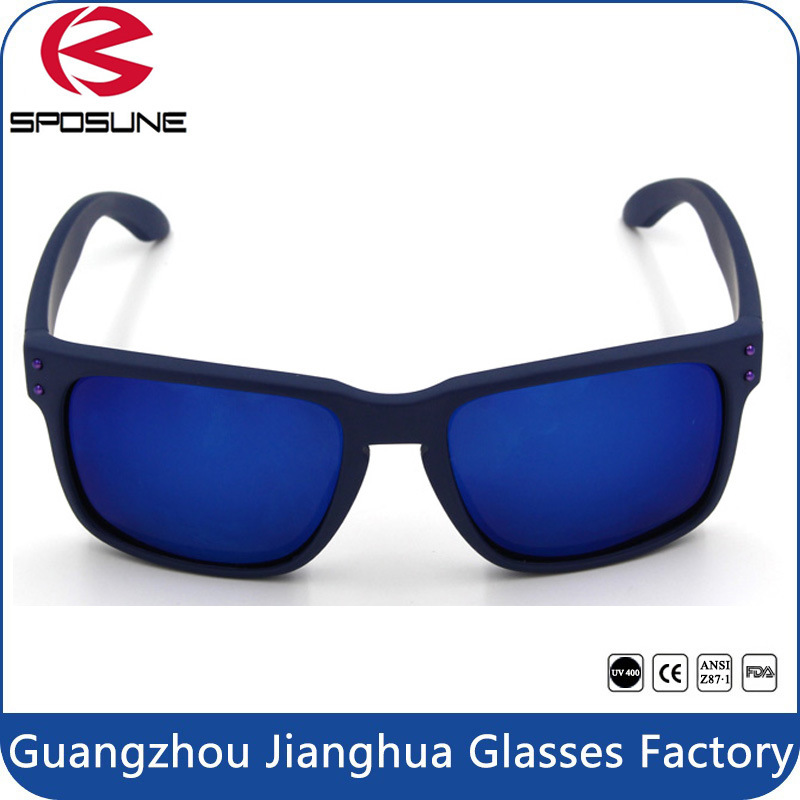 Wholesale Blue Mirror Sunglasses Matt Blue Anti UV Holbrook Polarized Sun Glasses