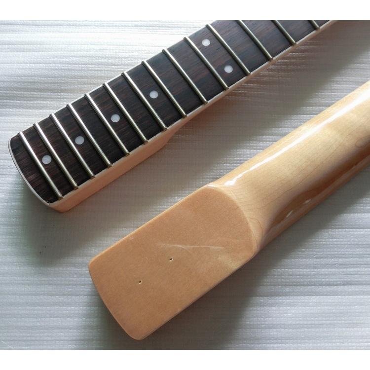 White Binding 21 Fret Large Headstock Strat Guitar Neck