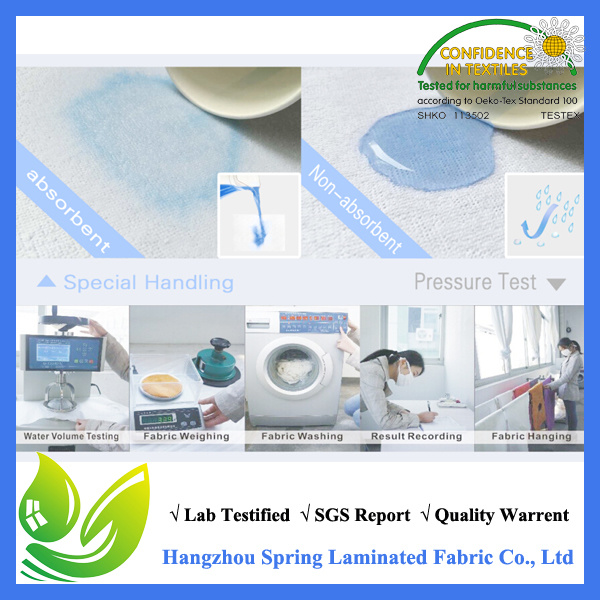 China Wholesale Hot Sale 100% 120GSM Bamboo Jersey Mattress Protector