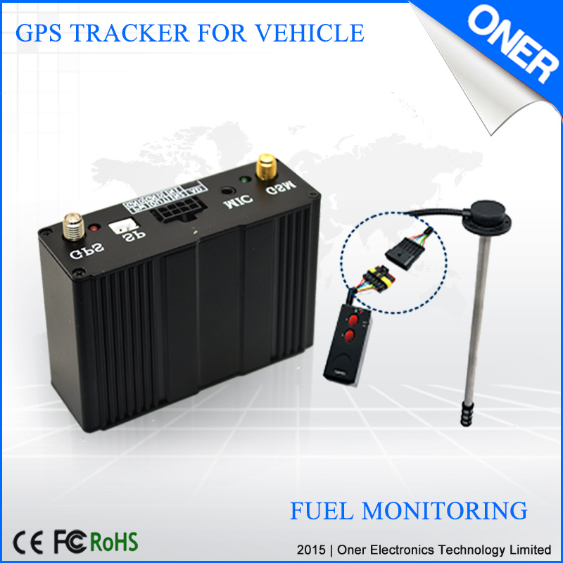 GPS Vehicle Tracker with Fuel Sensor and Temperature Sensor