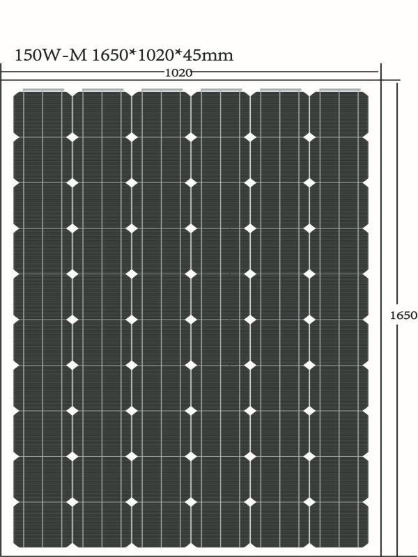 150W 18V Monocrystal PV Solar Panel Production Line