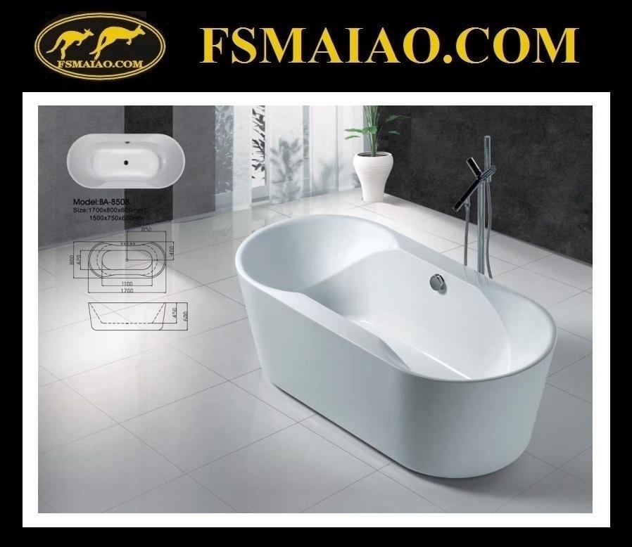 Acrylic Bathroom Freestanding Bathtub (BA-8508)