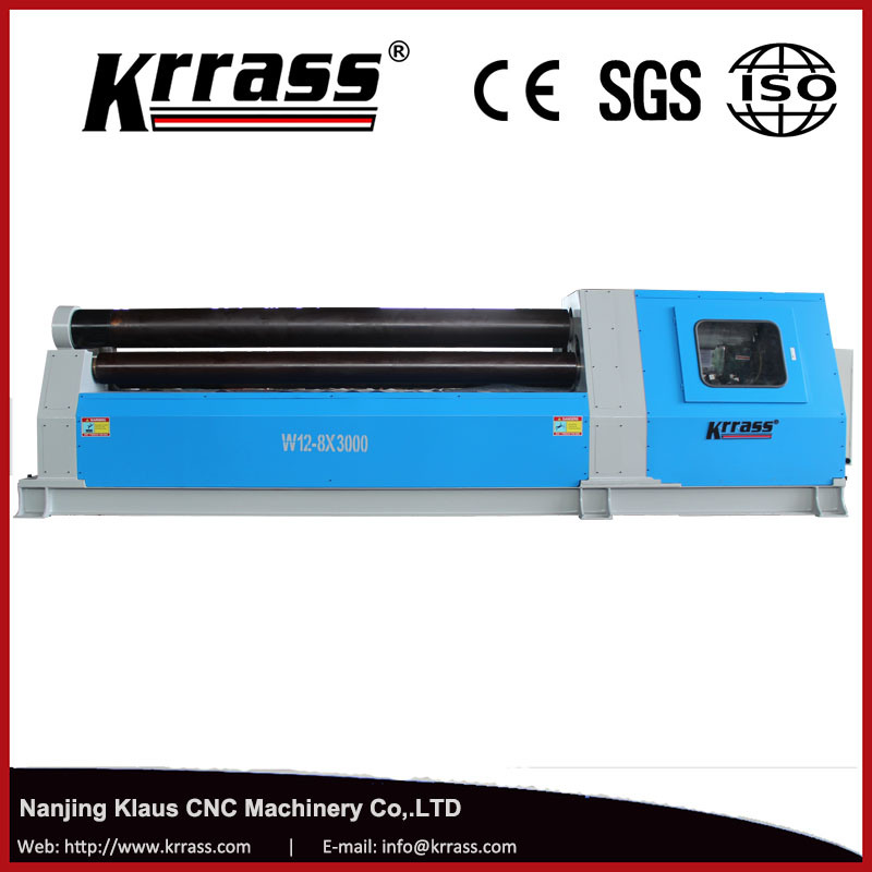 Krrass W12-10X2500mm CNC 4 Roller Rolling Machine with Ce