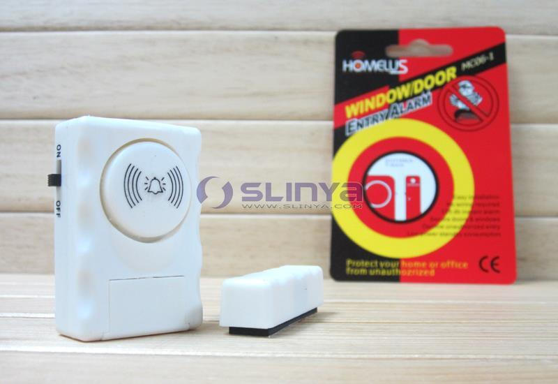 Homelus Security System Mini Magnetic Door Alarm Sensor Window Entry Alarm (MC06-1)
