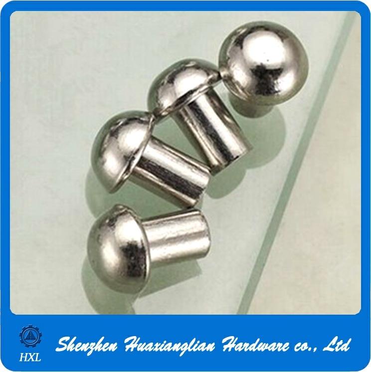 DIN660 2mm 2.5mm Copper Brass Round Head Solid Rivet