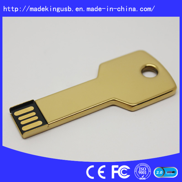 Metal Key Shape USB Flash Drive (USB 2.0/3.0)
