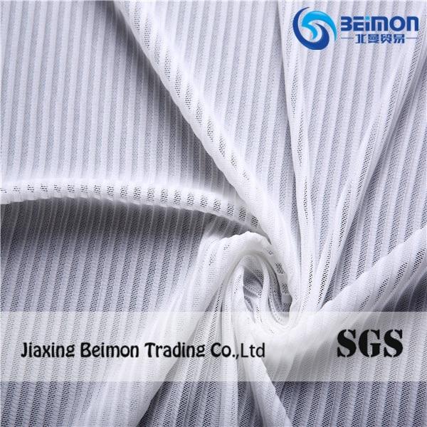 Strip Jacquard Stretch Mesh Fabric, Printed Base Fabric for Tutu, Dress Fabric Textile