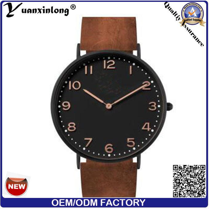 Yxl-742 2016 Men Fashion Custom Logo Watches Wholesale, Watch Genuine Leather, Watch Men Leather