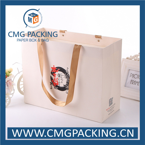 White Paper Matt Lamination Clothing Carrier Bag (CMG-MAY-009)