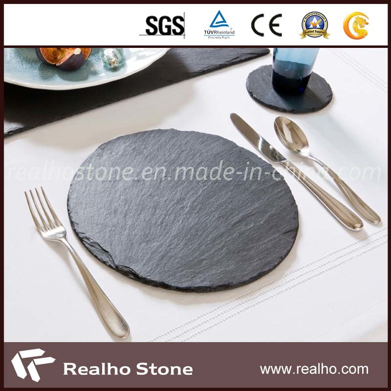 Round/Square Slate Coaster/Plate Without Logo