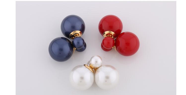 Fashion Stainless Steel Jewelry Pearl Stud Earrings (hdx1105)