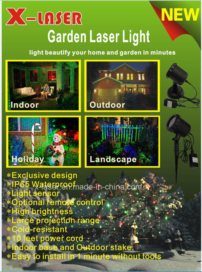 Outdoor Laser Light Christmas Decoration Red and Green Light Sensor Laser Projector