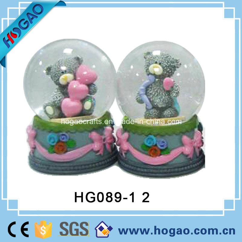 Resin Love Snow Globe for Wedding Souvenir (HG158)