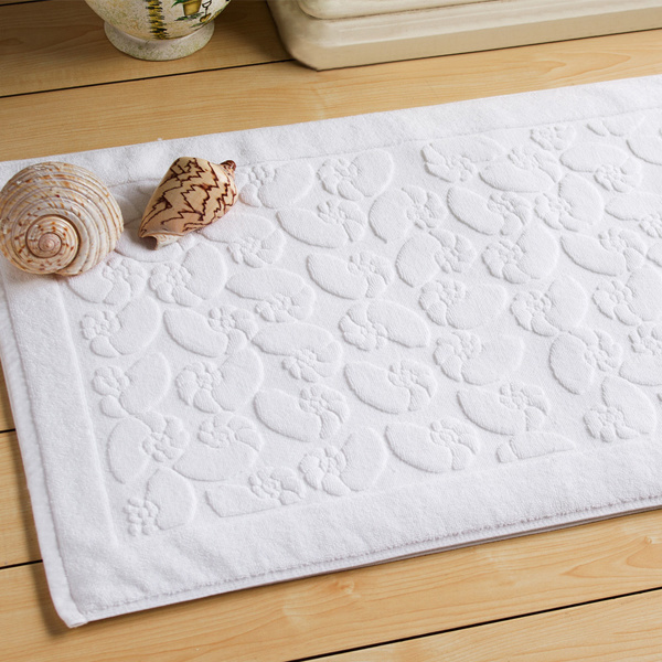 Luxury 100% Cotton Hotel Bathroom Bath Rug